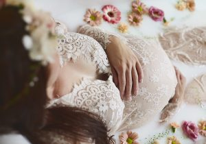 Milk Bath Maternity Photography Session Cheshire